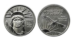 1998 Tenth Ounce American Platinum Eagle.jpg