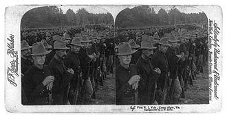 1st Rhode Island Infantry - 1st Rhode Island Volunteers at Camp Alger