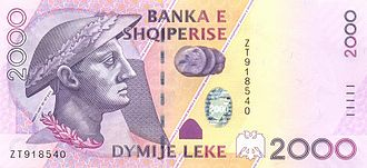 Gentius - Gentius on the 2,000 lekë banknote