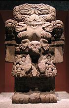 Aztec sculpture of Coatlicue.