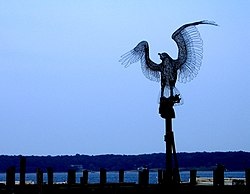 Monument to the September 11 attacks on the Greenport waterfront