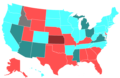 2008 United States House of Representatives Election by Change in the Majority Political Affiliation of Each State's Delegations From the Previous Election.png