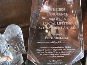Peter Shellem - Image: 2009 Innocence Network Special Lifetime Achievement Award