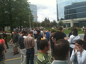 2010 Central Canada earthquake - Office building evacuation in Ottawa
