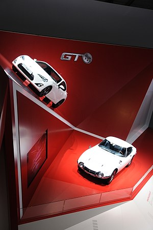 Toyota 86 - The GT86 stand at the 2012 Geneva Motorshow, with one of the vehicles that inspired its styling, the 2000GT
