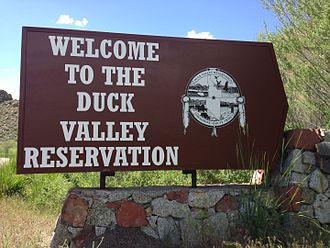Duck Valley Indian Reservation - Entrance sign to Duck Valley Reservation