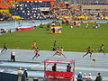 2013 IAAF World Championship in Moscow Relay 4x400 Men 1st Heat.JPG