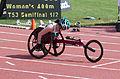 2013 IPC Athletics World Championships - 26072013 - Angela Ballard of Australia during the Women's 400M - T53 first semifinal.jpg