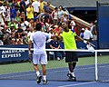 2013 US Open (Tennis) - Qualifying Round - Victor Estrella Burgos and Donald Young (9754451962).jpg