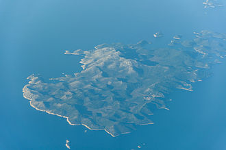 Lastovo - Aerial view of Lastovo