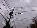 2014-10-31 17 58 17 Recently activated mercury vapor street light along Terrace Boulevard in Ewing, New Jersey.JPG