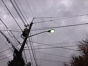Mercury-vapor lamp - Mercury vapor street light