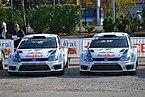 2014 10 04 11-17Rallye France, Parc assistance Colmar, voitures de Latvala et Mikkelsen.JPG