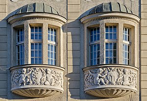 Oriel window - Oriel windows in Kłodzko, Poland.