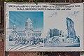 2014 Prowincja Szirak, Giumri, Plakat ze zdjęciami przed kościołem Zbawiciela.jpg