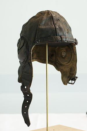 Helen Kerly - Kerly's Leather flying helmet