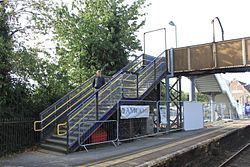 2015 at Pewsey station - building a new footbridge.JPG