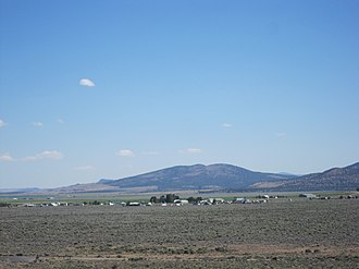 Fort Rock, Oregon - View of Fort Rock from Fort Rock State Park