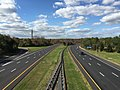 2017-10-30 13 22 42 View south along Interstate 95 from the overpass for Federal City Road in Lawrence Township, Mercer County, New Jersey.jpg