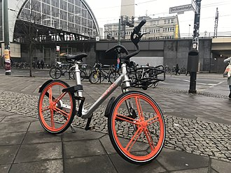 Mobike - A Mobike bicycle at Alexanderplatz, Berlin