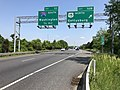 2019-05-19 15 04 04 View east along Interstate 70 at Exit 52B (U.S. Route 15 NORTH, Gettysburg) in Ballenger Creek, Frederick County, Maryland.jpg