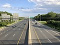 2019-07-24 18 26 34 View south along Interstate 695 (Baltimore Beltway) from the overpass for Maryland State Route 7 (Philadelphia Road) on the edge of Rossville and Rosedale in Baltimore County, Maryland.jpg