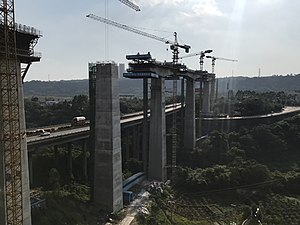 201908 S107 and Chongqing-Kunming HST under Construction.jpg