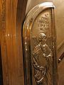 226 Basílica de Montserrat, porta d'argent de baixada de la cambra del tron, Sant Lluc.JPG