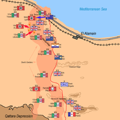 Axis counter-attack and attack by 9th Australian Division: afternoon, 25 October