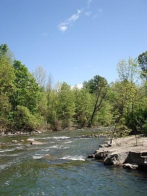 La Chute River - The river near Ticonderoga, New York