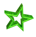 3D green star.png