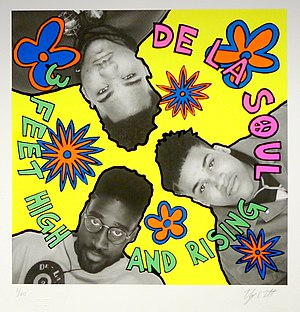 3 Feet High and Rising - De La Soul's 3 Feet High and Rising album artwork, Giclée print