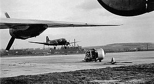 77th Air Refueling Squadron - 435th Troop Carrier Group C-47 landing