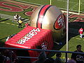 49ers tunnel at St. Louis at SF 2008-11-16.JPG