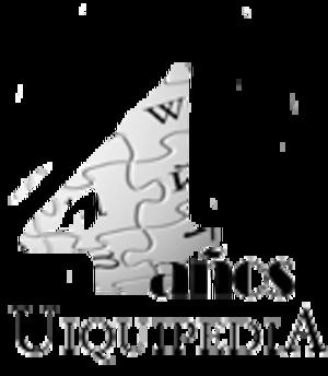 Asturian Wikipedia - Image: 4años 2