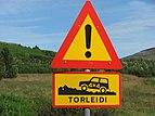 Strecke nur für Allradfahrzeuge freigegeben (Island)