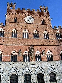 Palazzo Pubblico, facciata (particolare), Piazza del Campo