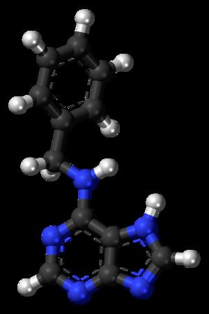 6-Benzylaminopurine - Image: 6 Benzylaminopurine 3D balls