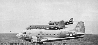 60th Operations Group - C-47 Skytrains of the 60th Troop Carrier Group, World War II Douglas C-47A 42-92409 identifiable