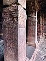 6th century entrance pillars (cave 1), Badami Hindu cave temple Karnataka 1.jpg