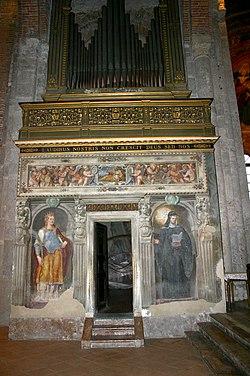 7420 - Milano - San Simpliciano - Transetto sin. - Aurelio Luini, affreschi base Organo - Foto Giovanni Dall'Orto - 25-mar-2007.jpg