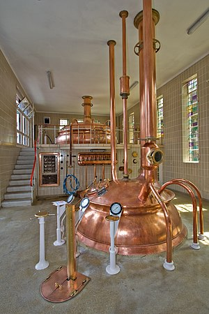 Brewery - Kettles in a modern Trappist brewery