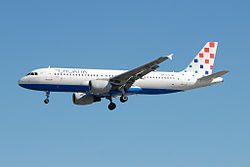Airbus A320-200 der Croatia Airlines