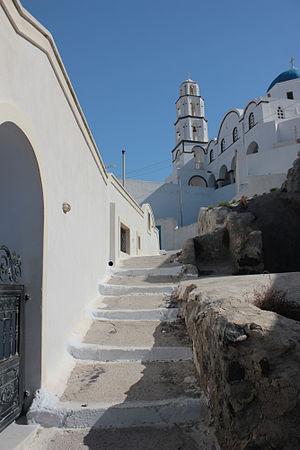 Pyrgos Kallistis - Image: A street in old Pyrgos, Santorini