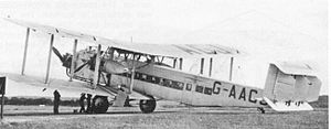Stanley Park Aerodrome - United Airways used this A.W. Argosy on pleasure flights from the aerodrome during 1935