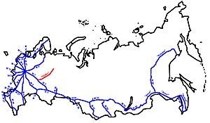 Vyatka Highway - Image: A119 Vjatka karte RF