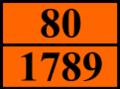 ADR80 UN1789 Hydrochloric acid.png