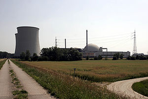 Biblis - The Biblis Nuclear Power Plant seen from the south