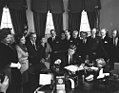 AR7813-A. President John F. Kennedy Signs Proclamation Declaring Sir Winston Churchill an Honorary Citizen of the United States.jpg