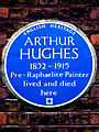 ARTHUR HUGHES 1832-1915 Pre-Raphaelite Painter lived and died here.jpg